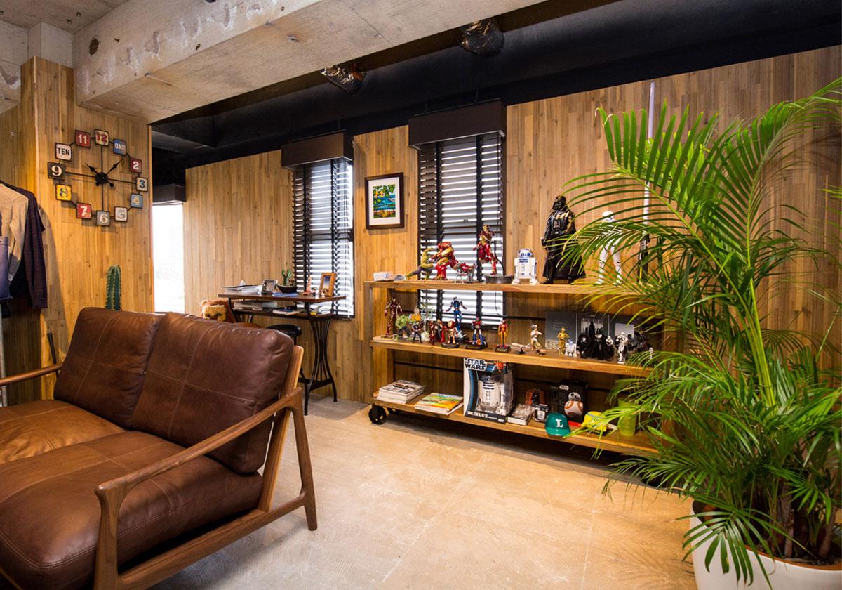 経年劣化で暗くなったオフィスのイメージを一新